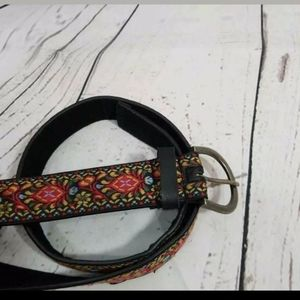Accessories - ⚡ Fashion Belt Black Red Yellow Tapestry 40